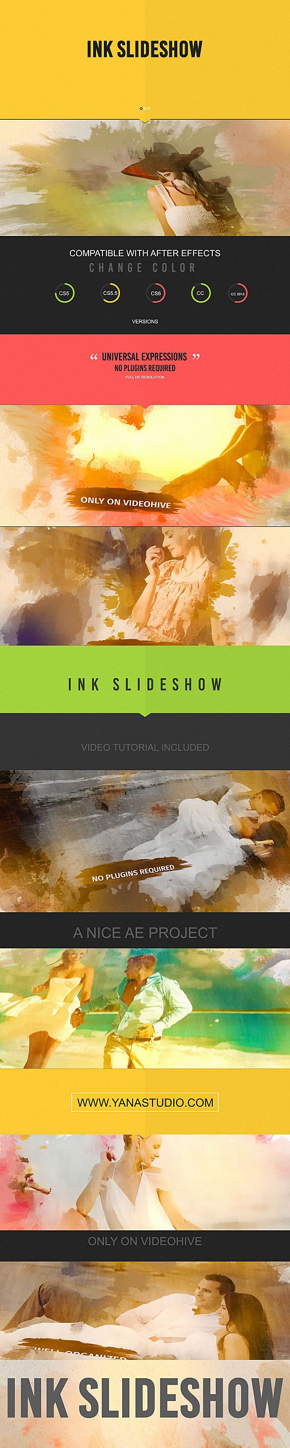 Ink Slideshow (Abstract)