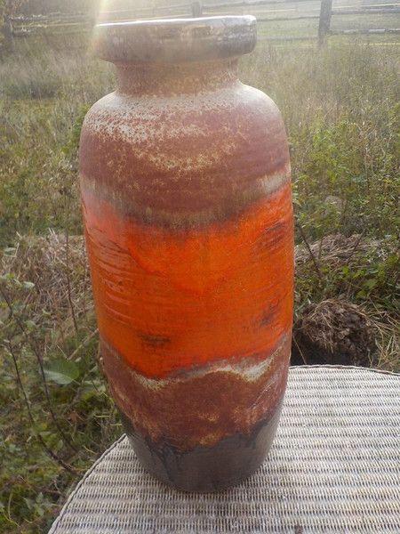 Weiteres - RARITAET BODENVASE SCHEURICH 50CM  MEISTER-GLAZUR - ein Designerstück von ausBoehmensHainundFlur bei DaWanda