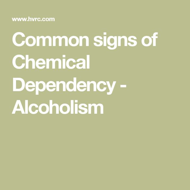 Common Problems in Patients Recovering from Chemical Dependency