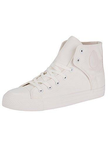 Oferta: 16.7€. Comprar Ofertas de oodji Ultra Hombre Zapatillas Altas de Piel Sintética con Punta de Goma, Blanco, 43 EU / 9 UK barato. ¡Mira las ofertas!