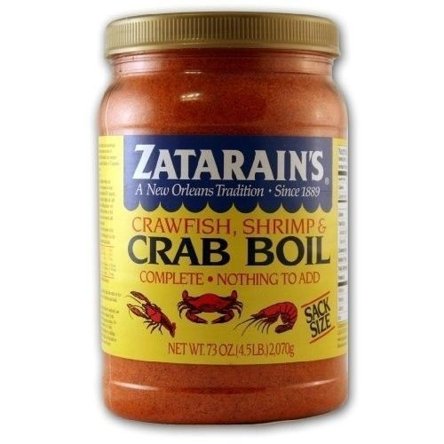 Zatarain'S Crab Boil 73 Ounces Boils 40 Pounds!! Free Recipe 4.5 Pounds Of Boil
