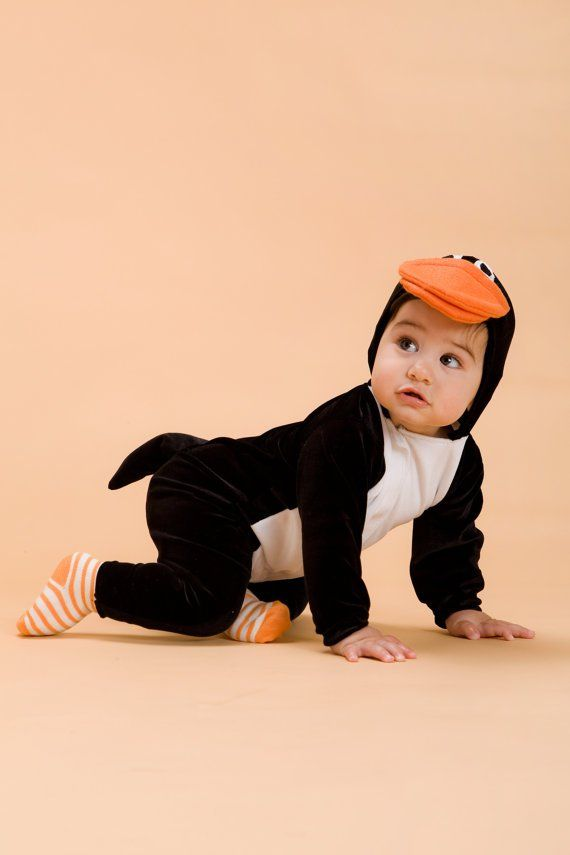 Baby's First Halloween: 24 Cute Costume Ideas Baby Penguin The best for a baby to sport his black and white best this Halloween is as a cuddly baby penguin ($68). Adorable, no?