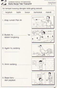 Image result for latihan kata kerja tahun 1