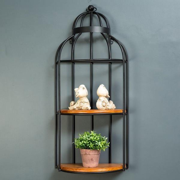 The Birdcage 4 Tier Wall Shelf