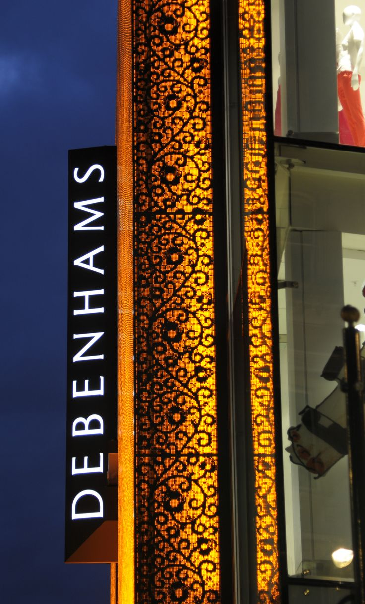 Light +Design - Debenhams Facade, Oxford Street