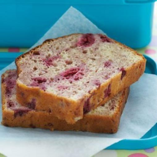 Raspberry yoghurt loaf
