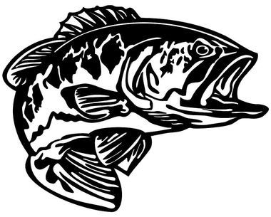 Bass Decal MD5 Vinyl Fishing Boat Sticker - Wildlife Decal