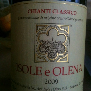 Isole e Olena, 2009 and only 10 minutes from home!