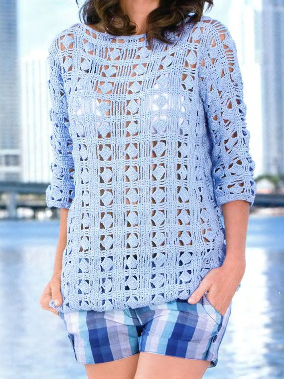 Crochet beach tunic made to order от MariyaF на Etsy
