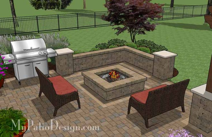 Square backyard fire pit ideas