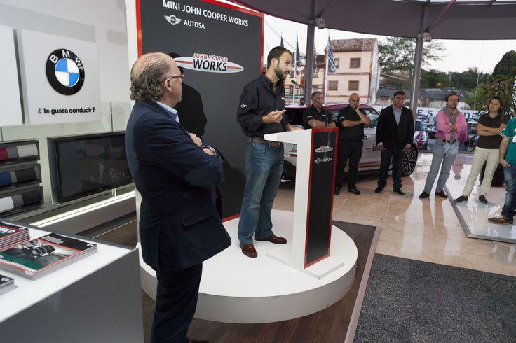 Luis Monzón durante la presentación de la Zona MINI John Cooper Works en Autosa