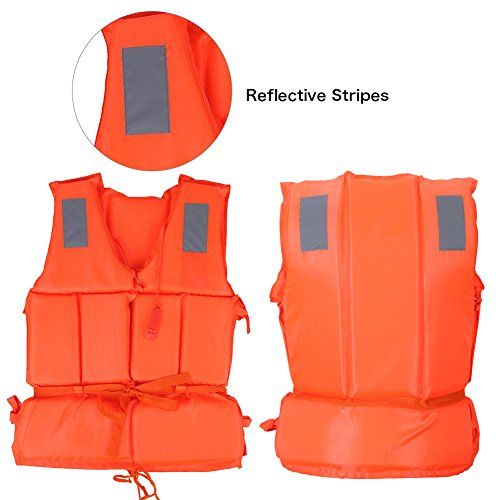 Life Jacket ChildAdult Buoyancy Life Vest Swimming Boating Safety Ski Survival Aid Jacket For Swiming Lifesaving Boating With Whistle Child Orange *** Click image to review more details.Note:It is affiliate link to Amazon.