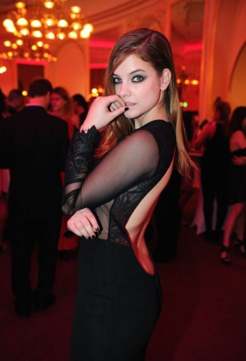 Barbara Palvin wears Nora Sarman evening gown