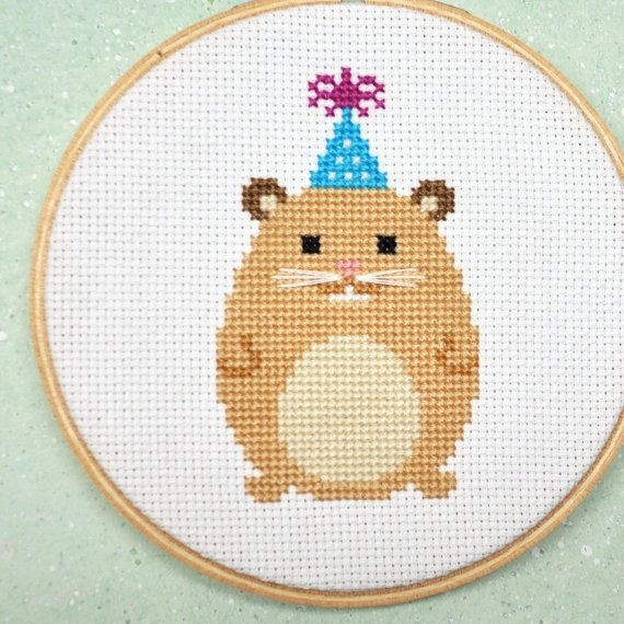Hamster Counted Cross Stitch Pattern PDF $4 from Sewingseed on Etsy