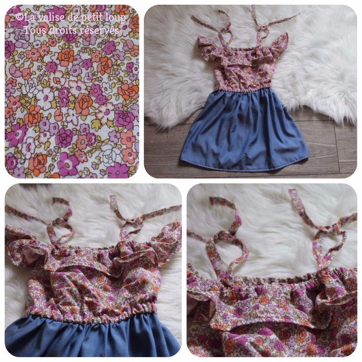 Robe Kaitlynn - Violette Field Thread  Tissus Les coupons de Saint Pierre