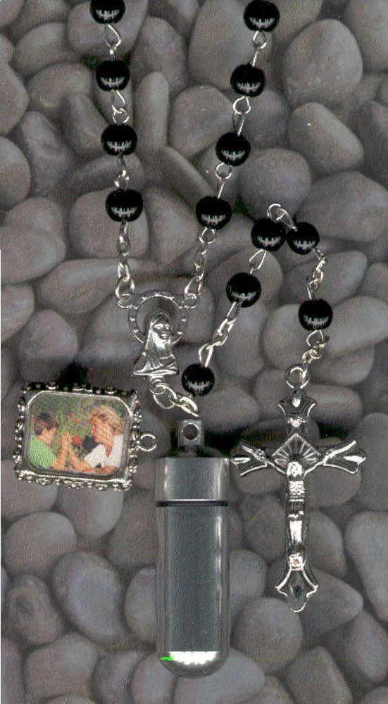 EBJ,Rosary,Jewelry Urn,Memorial Urn,Keepsake Urn,Cremation Urn,Key Chain Urn #SmallCremationUrns