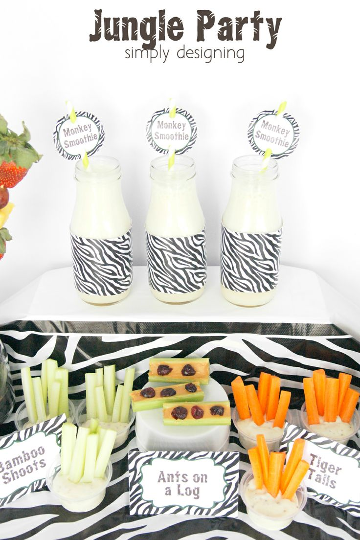 Jungle Party | have a healthy Jungle-themed party | Jungle party themed food ideas | FREE jungle-themed printables | #party #junglefresh #sh...  http://www.simplydesigning.net/2014/02/jungle-party-monkey-smoothie-recipe.html?utm_source=feedburner&utm_medium=email&utm_campaign=Feed%3A+SimplyDesigning-HomeFloralSeasonalCraftsDesigns+%28Simply+Designing+with+Ashley%29