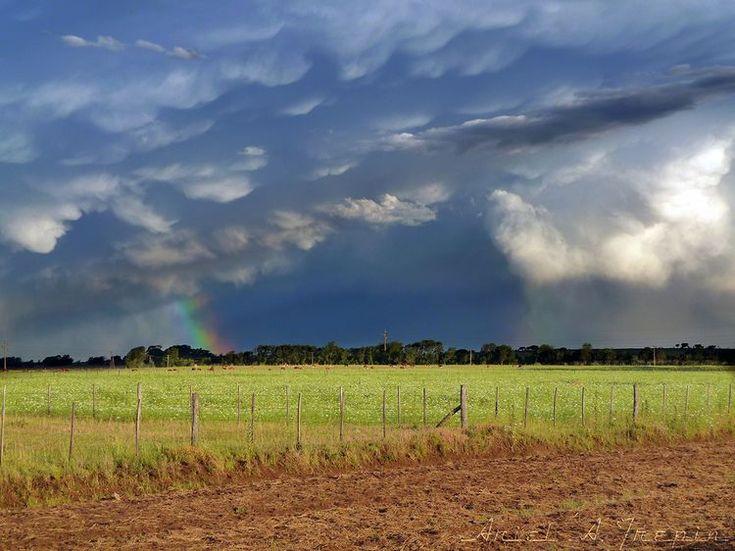 Partial Rainbow over Sampacho, Argentina
