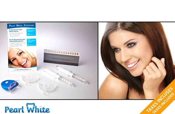39$ pour une trousse professionnelle de blanchiment des dents par Pearl White livrée à votre porte! Avec en bonus un stylo de blanchiment (valeur de 399$)  $39 for a home delivered PEARL WHITE professional teeth whitening kit with a BONUS touch-up pen (value of 399$)