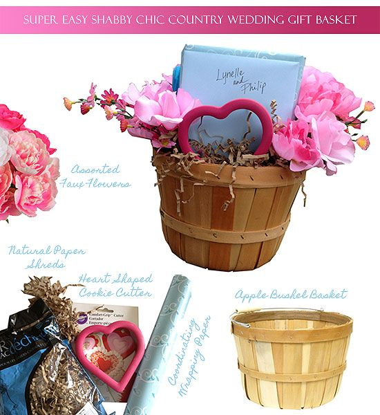 Gift Wrap 101 Super Easy Shabby Chic Country Wedding Basket