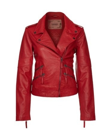 oakwood leather jacket red by oakwood inspiratie spicy red de bijenkorf pinterest leather. Black Bedroom Furniture Sets. Home Design Ideas
