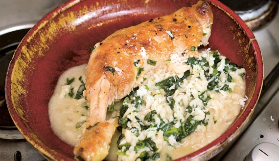 Spinach and chicken rice | Yummy Stuff | Pinterest
