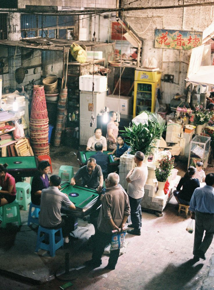 Mah-jong den | BeiBei, China | Market | Jen Huang Photo