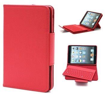 Detachable Bluetooth Keyboard Case for iPad Mini - Red
