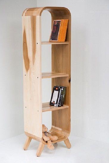 Bookcase with rounded corners, by Aviad Mishaeli | ספריה עם פינות מעוגלות, אביעד מישאלי