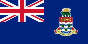 Cayman Islands ~ Blue ensign with the coat of arms of the Cayman Islands in the fly.