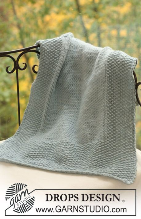 Free knitting pattern for blanket with wide border.  Sweet.