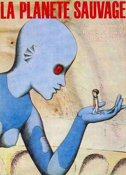 """la planete sauvage // fantastic planet:  based on """"oms and serie"""" stefan wul  1973 // cannes jury prize  rene laroux (writer, director)  roland topor (writer, production)"""
