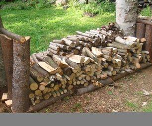 home made firewood rack