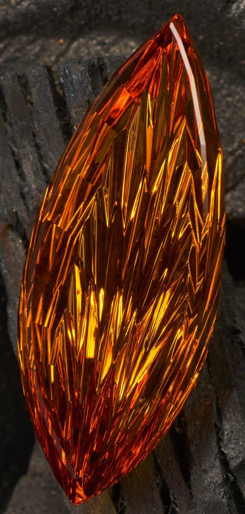 John Dyer Interview flame-cut citrine