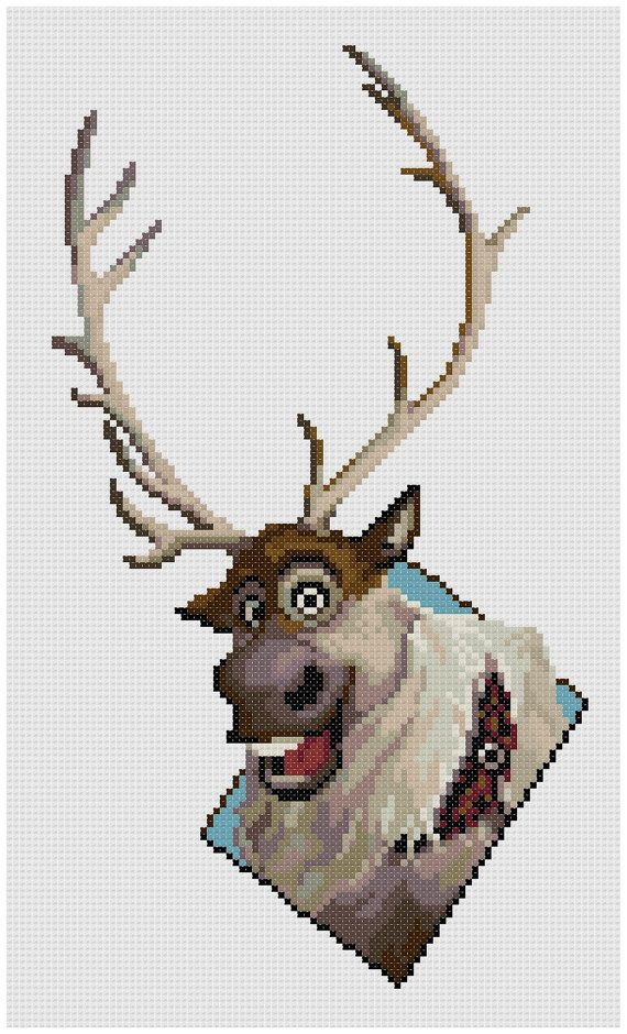 PDF Cross Stitch pattern  0050.Sven Frozen  INSTANT by PIXcross