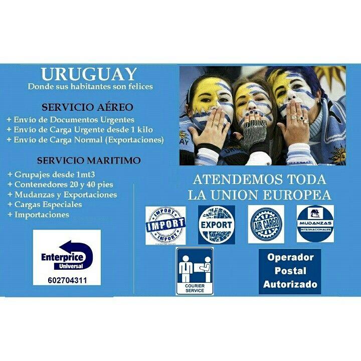 Servicio para uruguayos residentes en Europa. Servicio puerta a puerta. Atendemos mudanzas y exportaciones según normativa vigente en Uruguay. #Uruguayos #Uruguay