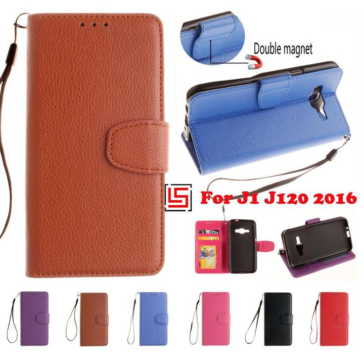 Retro New PU Leather Flip Filp Wallet Wallt Walet Phone Case Cover Bag For Samsung Sansung Sumsang Galaxy J1 2016 J 120 Red #Affiliate