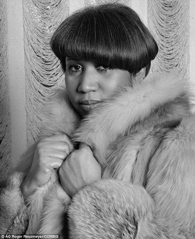 Aretha Franklin looking fierce!