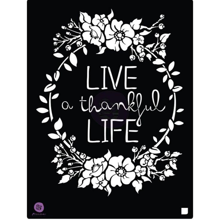 "Prima Marketing Live Life 8.5""x11.25"" Stencil Mask 587178 - Craftie-Charlie"