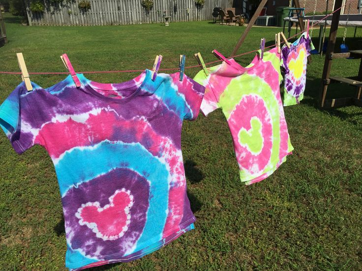 Our easy guide to DIY Tie Dye Mickey Ears shirts will have your family looking their best on your next Disney Parks vacation!