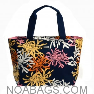 Jim Thompson Luxury Canvas Summer Bag Blue Floral Multicolored