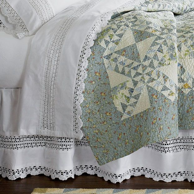 Just found this Cotton Bedskirt - Crochet Bedskirt -- Orvis on Orvis.com!