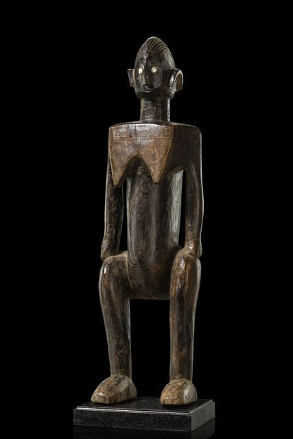 "Lot:Standing female figure ""jo nyeleni"" - Mali, Bamana, Lot Number:135, Starting Bid: €15000, Auctioneer:Zemanek-Muenster, Auction:Standing female figure ""jo nyeleni"" - Mali, Bamana, Date:04:00 AM PT - Nov 5th, 2016"