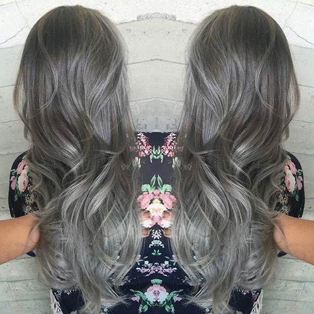 9 Best Grey Dye Style Images On Pinterest Grey Hair Human Hair
