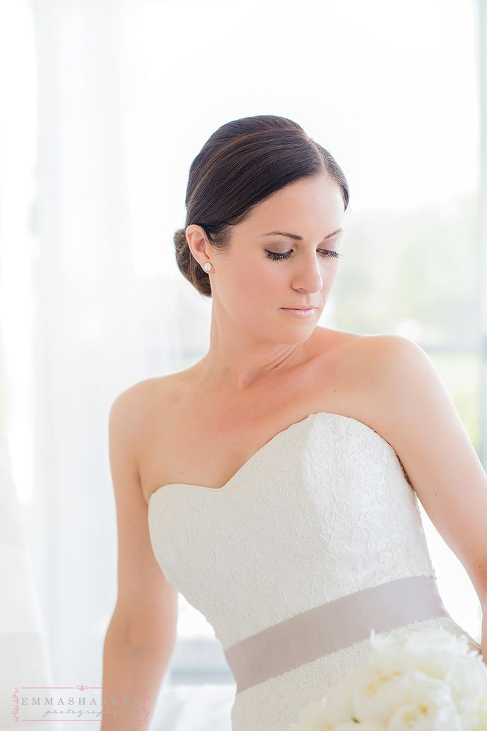 My darling Kate. Gorgeous hair By Abby and Makeup by Mary Colandro. Love this soft low swept formal wedding hair. XX