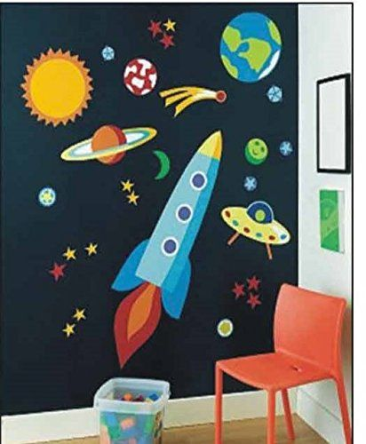 Rakete 3d Effekt Wandsticker Rakete Wanddekoration Kinder Wandbild Aufkleber…