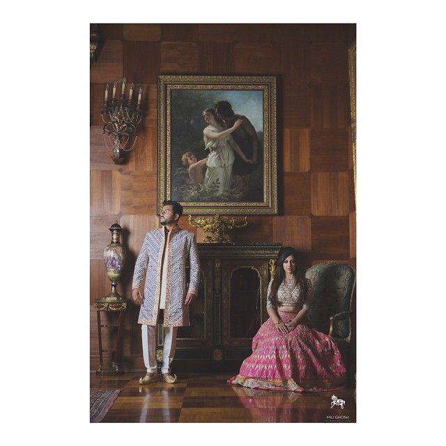 Manita & Harpreet- #throwback. #editorial #anitadongre #instafashion #fashionphotography #indianbride  Courtest: Mili Ghosh