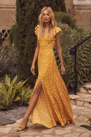 Fresh Picked Mustard Yellow Floral Print Backless Maxi Dress 5 ... d9a55d29ce