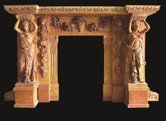 Victorian Fireplace Mantels | Model 27 Marble Mantels | Victorian Fireplaces | Female Statue