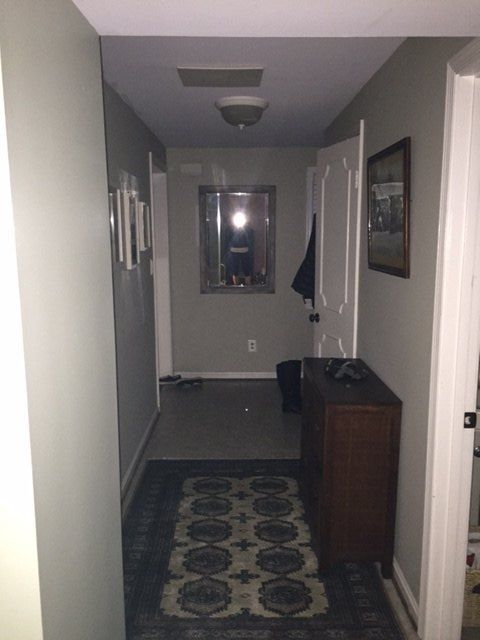 I really wanted to give our main floor hallway a makeover.  It was pretty dark and drab.  The hallway is wide and I knew that built-ins would look great along t…